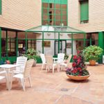 Terraza de la residencia universitaria misioneras de Huesca