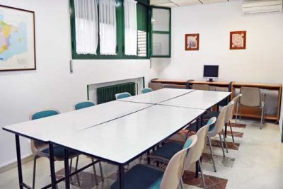 Sala de estudios de la Residencia universitaria de Huesca