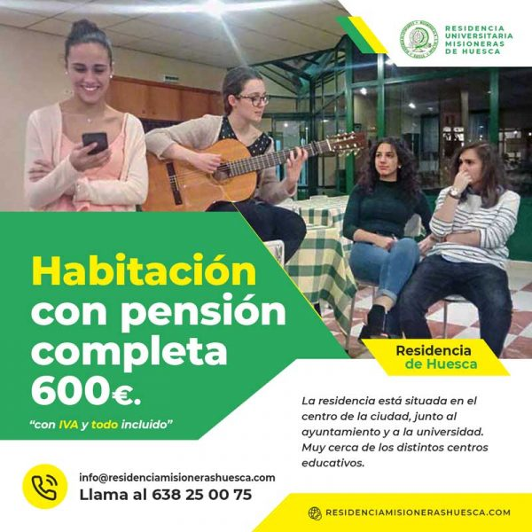 Residencia para estudiantes o piso compartido en Huesca